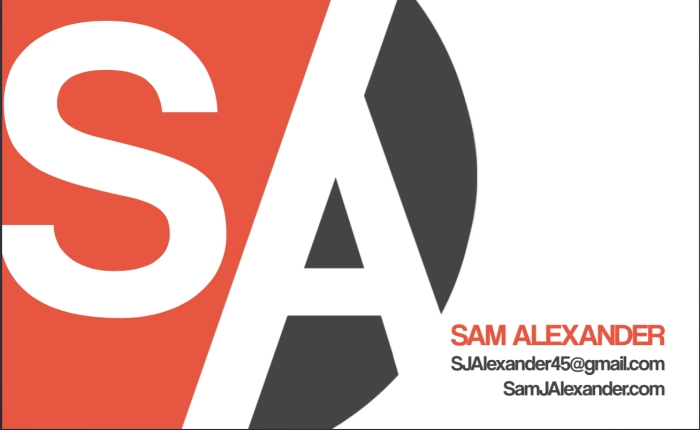 Sam business card